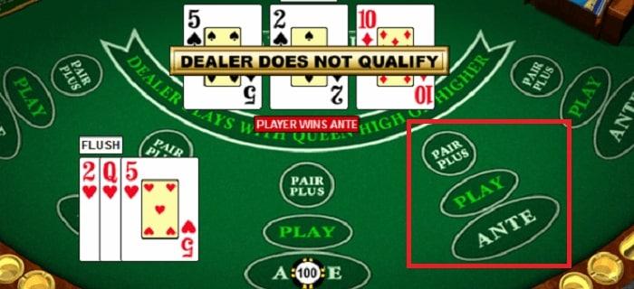 スリーカードポーカーにおけるスポットについて